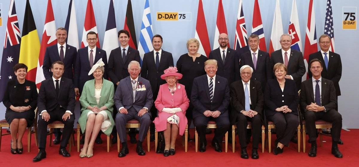 Líderes mundiales durante la conmemoración del Día D