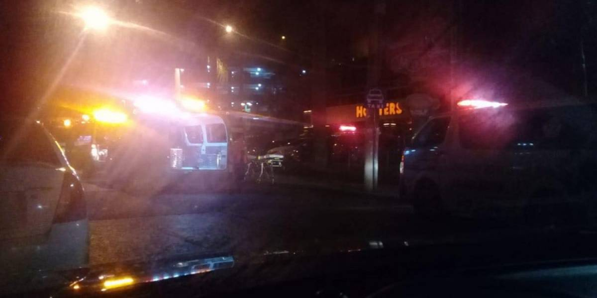 Balacera en zona 10 deja dos heridos