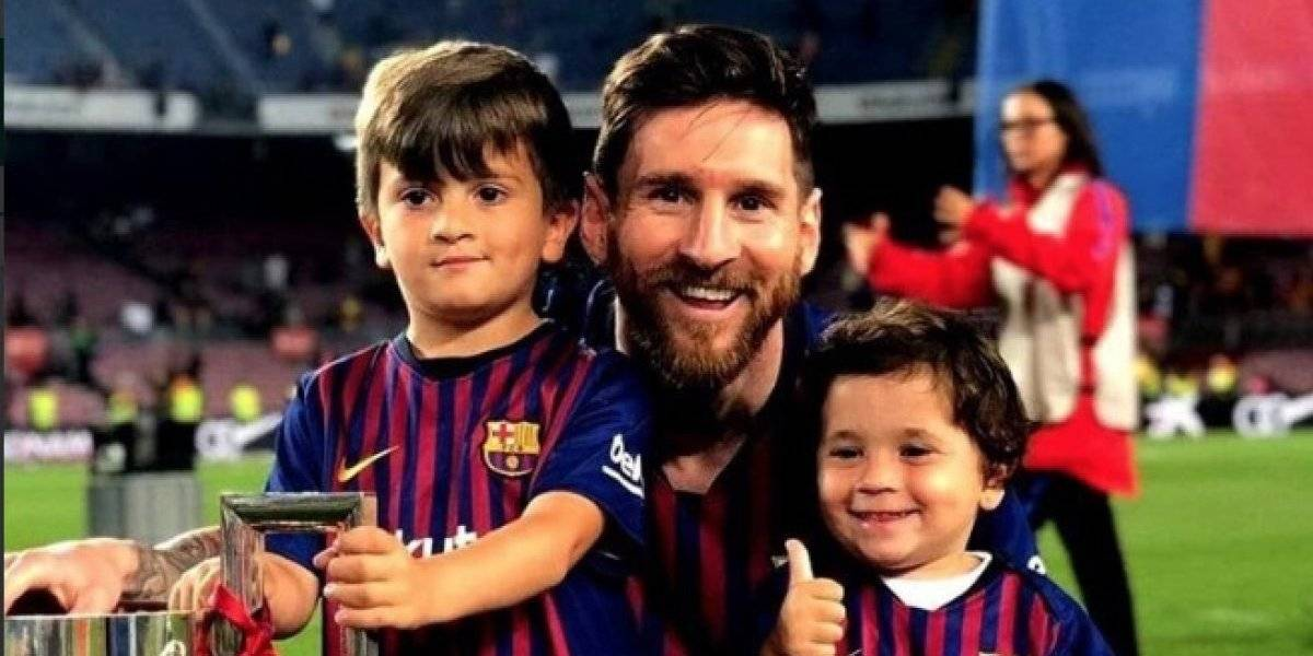Mateo Messi le hace 'bullying' a su padre por gritar los goles del Real Madrid