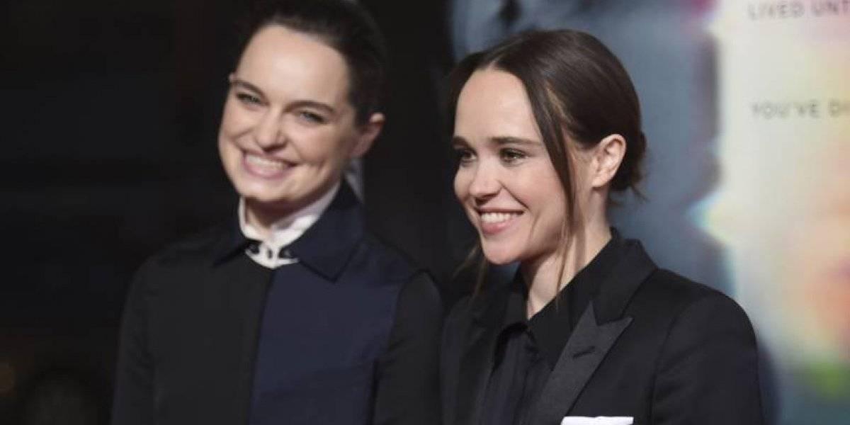 Ellen Page y su esposa posan en topless y besándose por el mes del orgullo LGBT+
