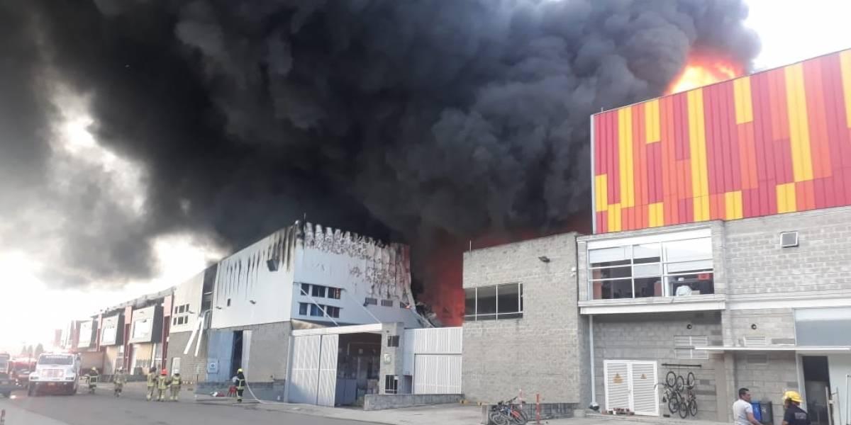 ¡Atención! se presenta fuerte explosión en el parque industrial de Funza, Cundinamarca