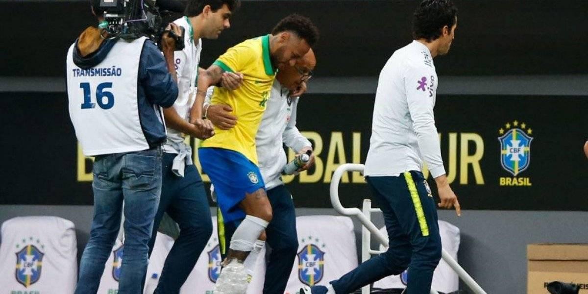 No paran las malas noticias: Neymar sale lesionado de la victoria de Brasil en la previa a Copa América