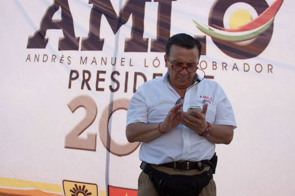 Nicolas Mollinedo en San Cristobal de las Casas en 2012 Foto: Cuartoscuro