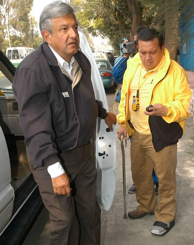 Con AMLO en diciembre de 2005 en la Ciudad de México Foto: Cuartoscuro