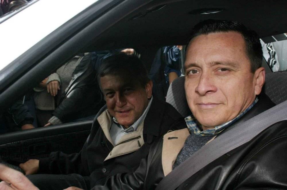 Con AMLO en enero de 2004 Foto: Cuartoscuro