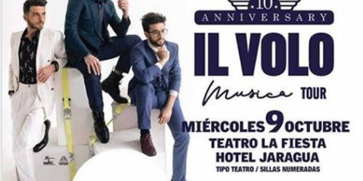 Il Volo cantará el 9 de octubre en el Teatro La Fiesta
