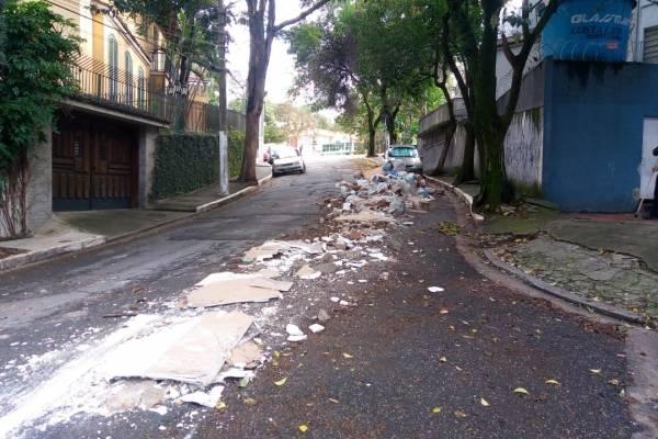 lixo rua em moema
