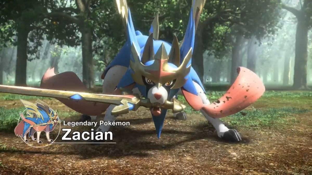 Fechando a dupla de lendários, o pokemón Zacian Reprodução/YouTube