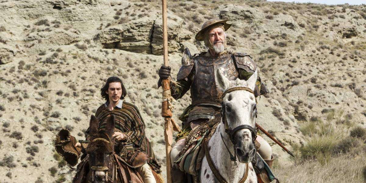 Com Adam Driver, 'Quixote' de Gilliam estreia após 10 anos de produção