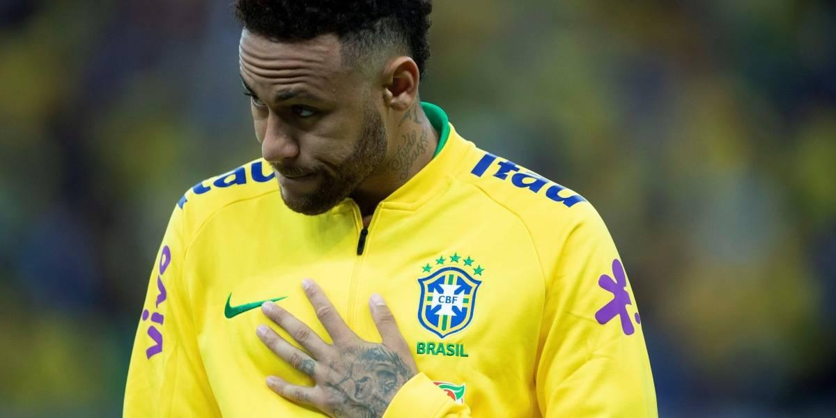 Foto: Así le quedó el tobillo a Neymar tras su lesión durante el partido ante Qatar