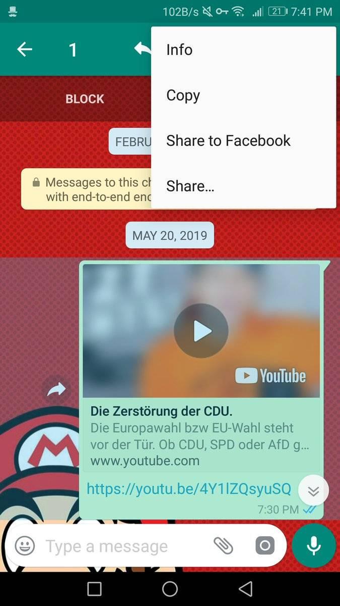 WhatsApp presenta nuevo botón que permitirá compartir contenido en Facebook