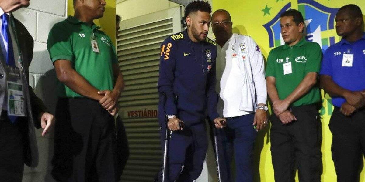 Así le quedó el tobillo a Neymar tras lesión durante partido ante Qatar