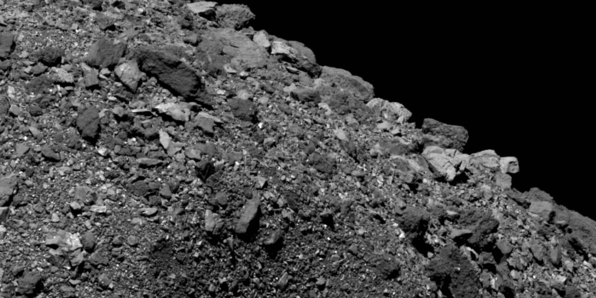 A última imagem do asteroide Bennu registrada pela sonda espacial da NASA