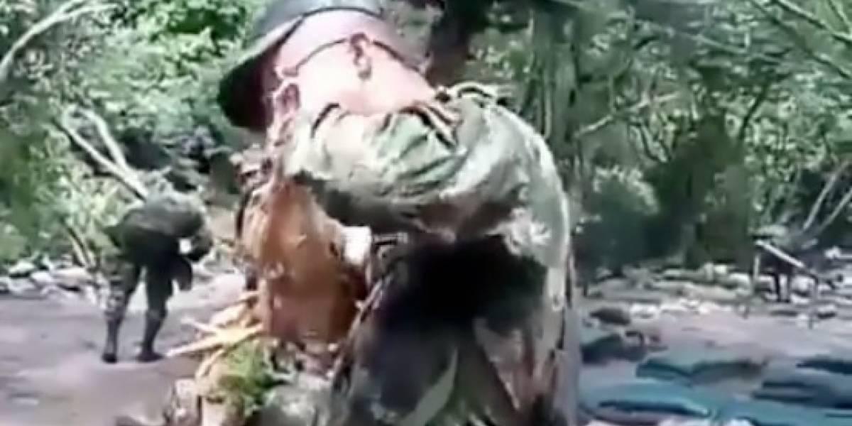 Video de militares matando a mordiscos a una gallina y tomando su sangre causa polémica