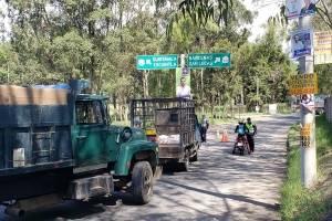 manifestación en Bárcenas, Villa Nueva, por operativo contra patrulleros