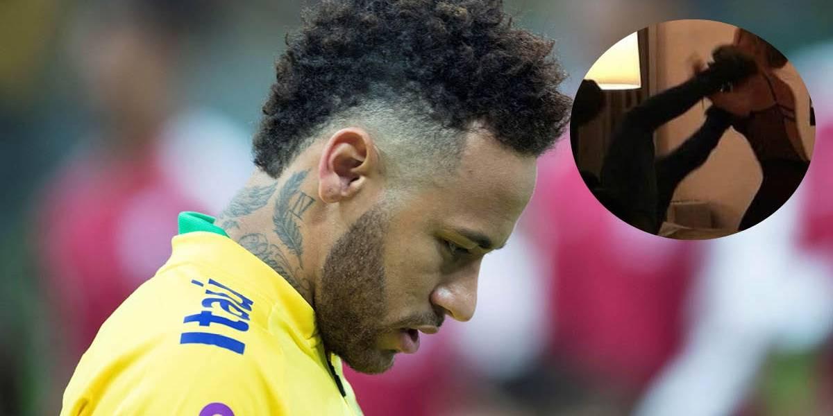 ¡Qué salado, Neymar! Se filtra el video de la pelea con la mujer que lo acusa de violación