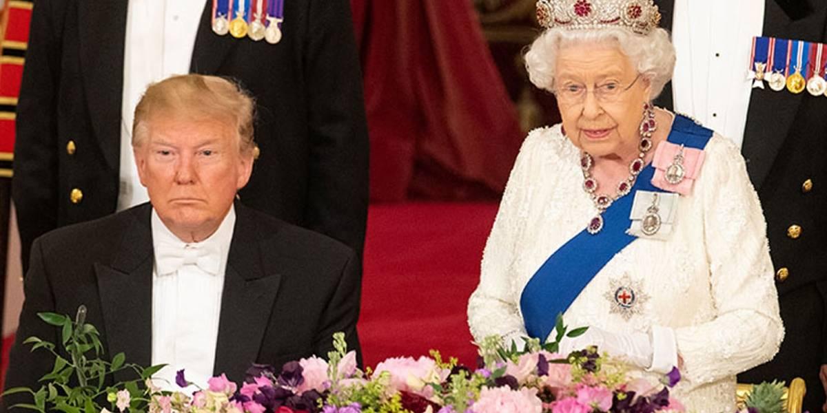 El imperdonable error que cometió Donald Trump con la reina Isabel II