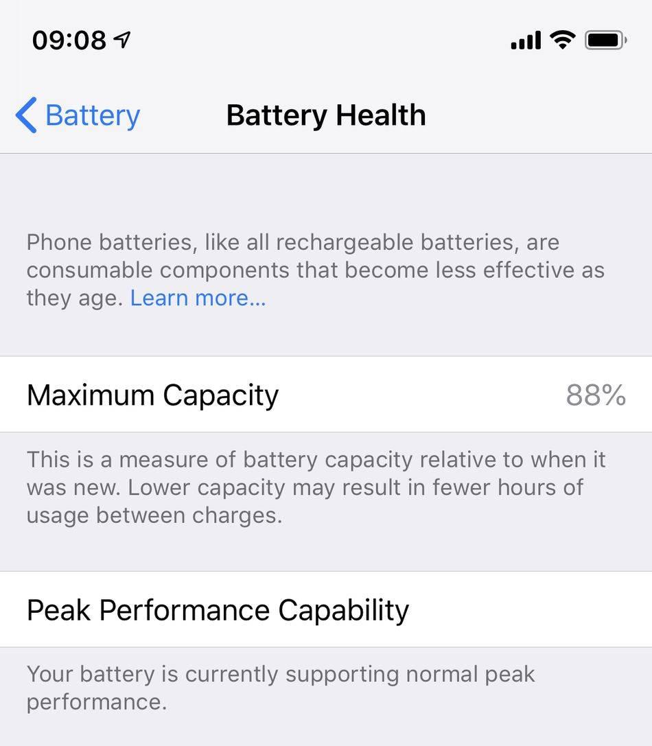 Apple promete que iOS™ trece cuidará de la batería de usted IPhone de modo inteligente