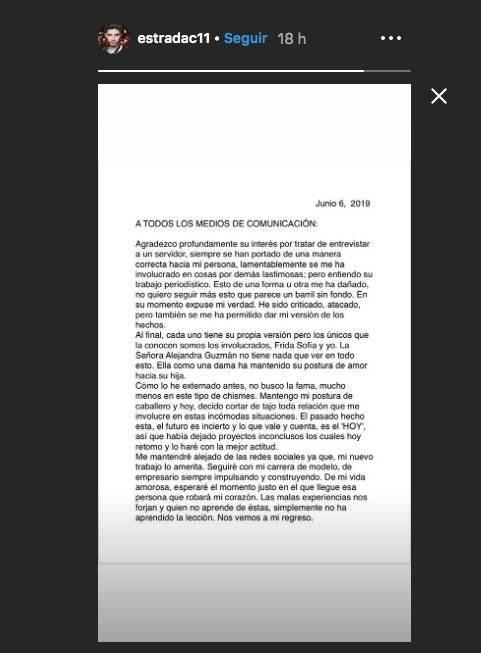Mensaje de Christian Estrada