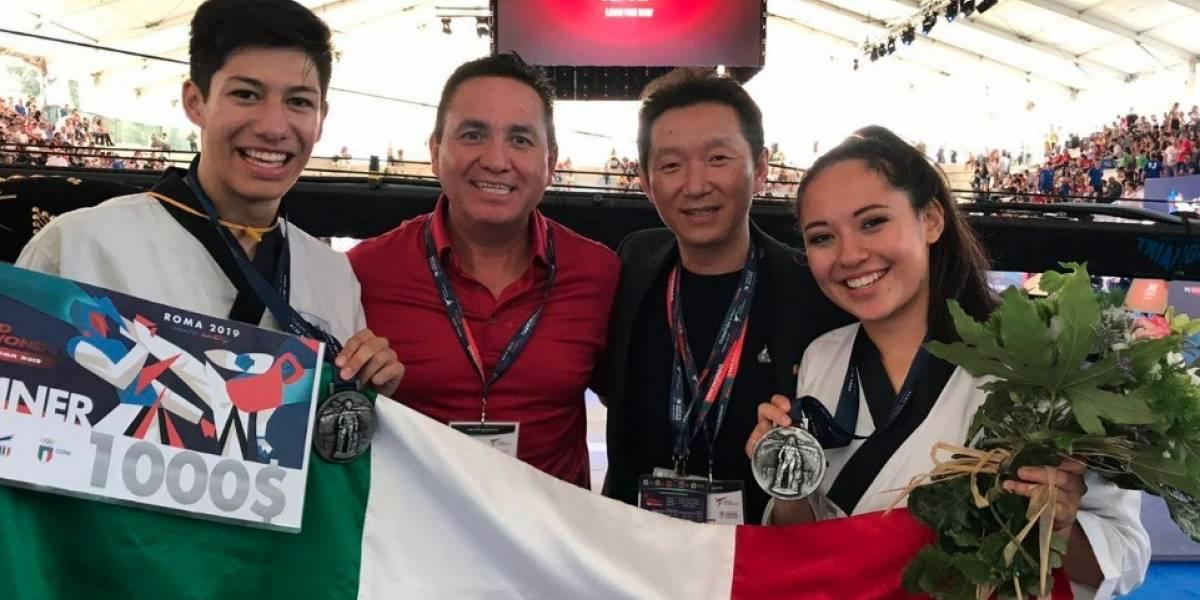 Mexicanos obtienen medalla de plata en Grand Prix de taekwondo