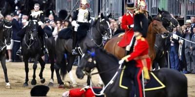 Escenas del desfile militar para conmemorar el cumpleaños de la Reina Isabel II