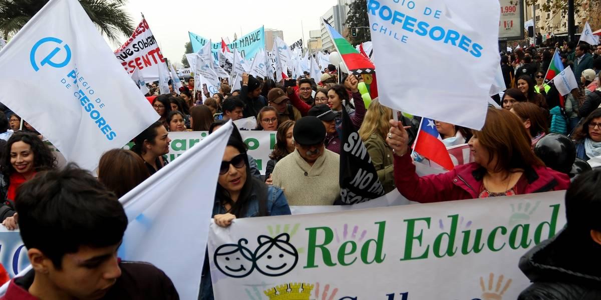 Paro indefinido: Colegio de Profesores anunció nuevas movilizaciones para la próxima semana