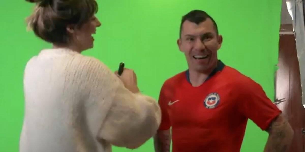 La Roja animó un divertido backstage en la sesión de fotos para la Copa América