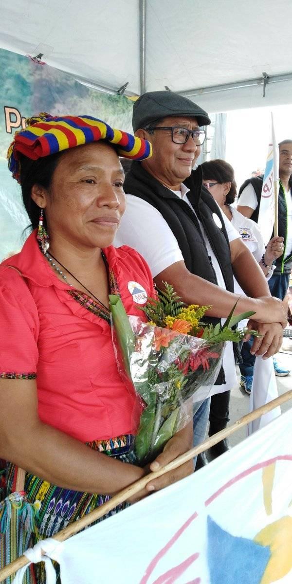 Thelma Cabrera y Neftaly López, binomio presidencial del MLP. Foto: MLP