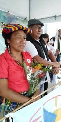 Thelma Cabrera y Neftaly López, binomio presidencial del MLP.
