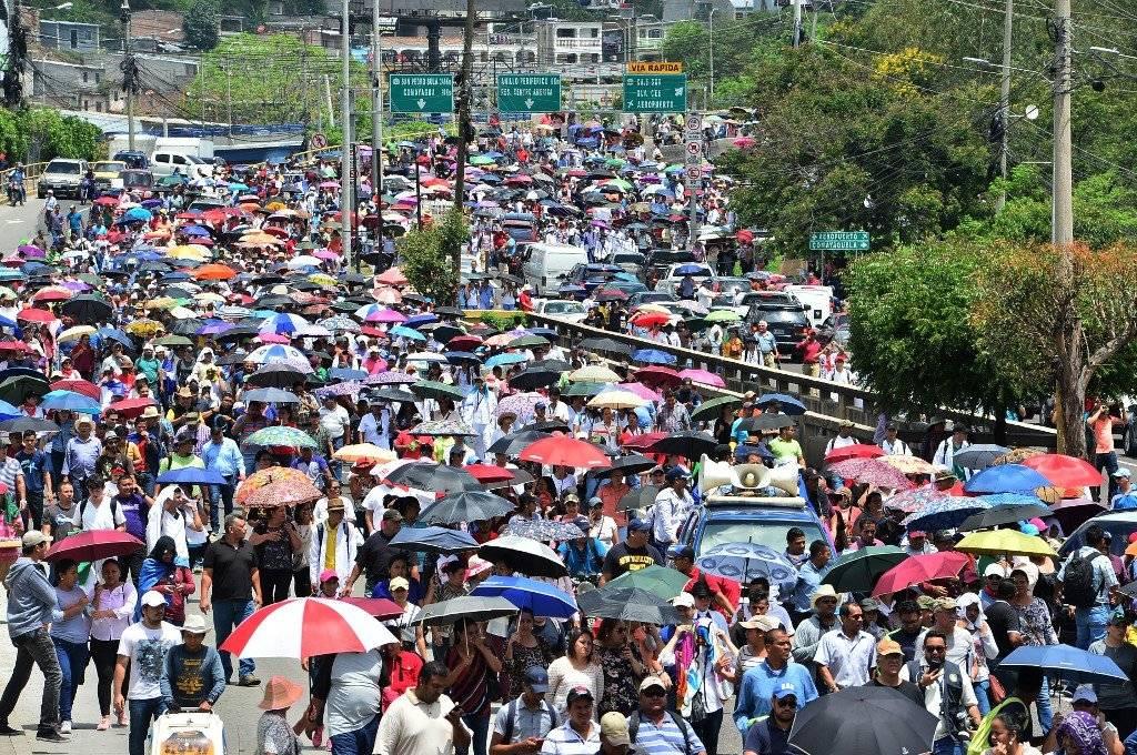 Marcha por la paz en Honduras