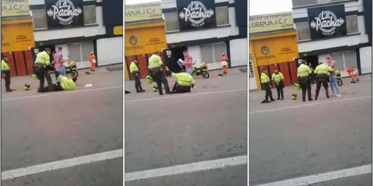Policías ¿borrachos? protagonizaron bochornoso acto en Tunja