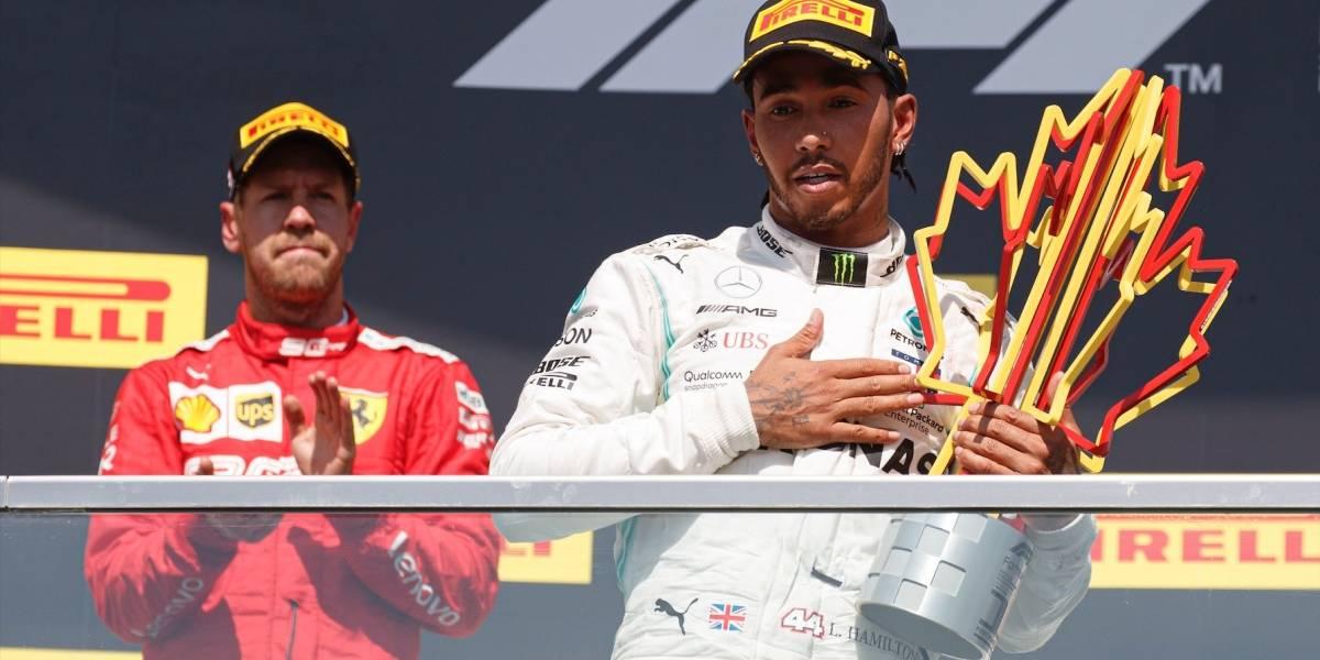 Sebastian Vettel ganó en la pista, pero Lewis Hamilton en los escritorios en el Gran Premio de Canadá