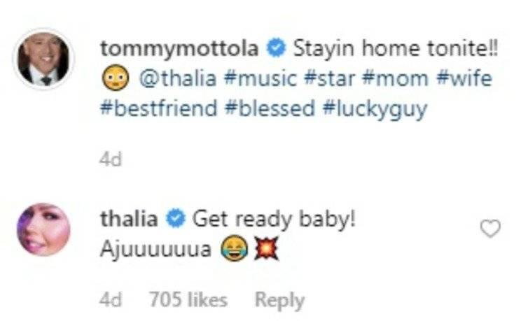 Thalía y Tommy Motola se ponen