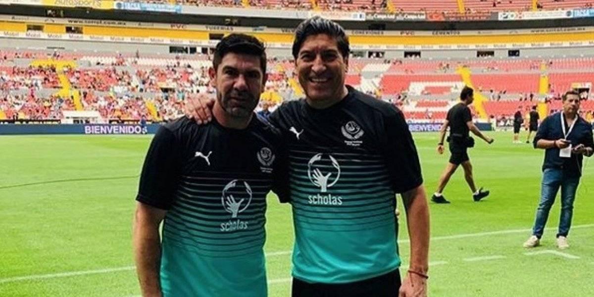 "La histórica dupla ""Za-Sa"" tuvo un emotivo reencuentro en la despedida de Rafa Márquez"