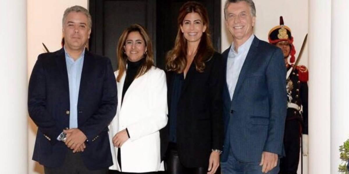 Lluvia de críticas tras la bienvenida de los Macri a Iván Duque y su esposa en Argentina
