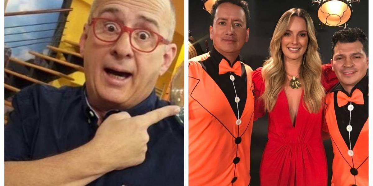 Críticas a Claudia Bahamón por lucir un vestido rojo en homenaje a Jota Mario en RCN