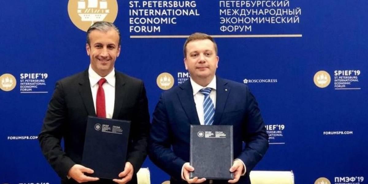 Venezuela y Rusia firman acuerdo en Foro de San Petersburgo