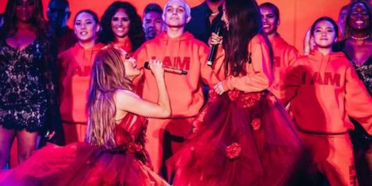 JLO canta por primera vez en público con su hija Emme