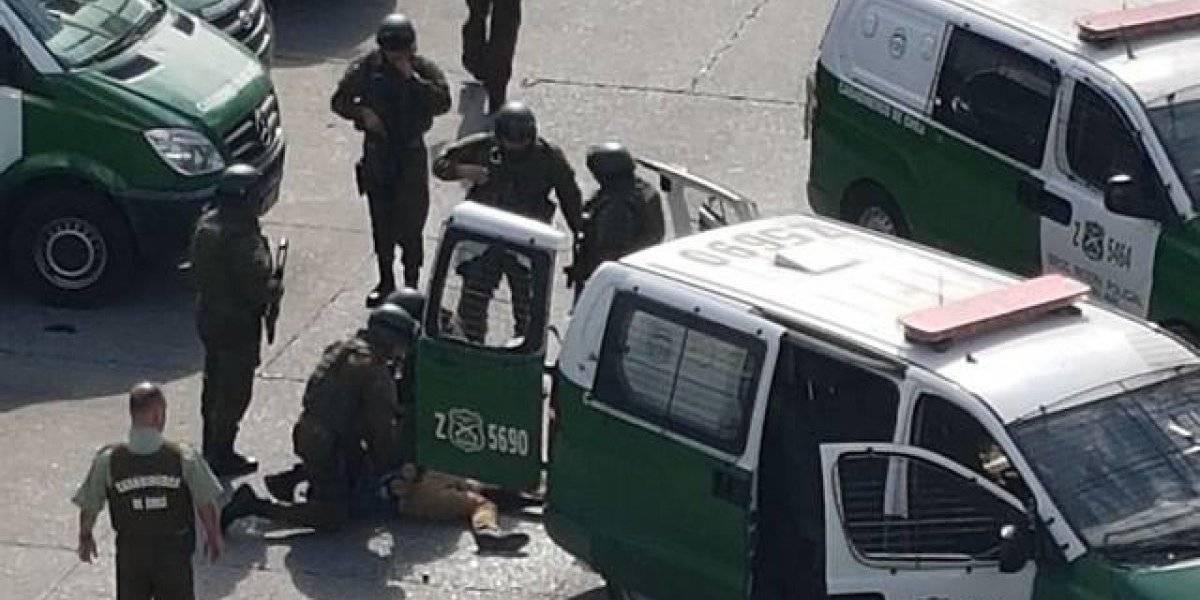 """""""Narcovelorio"""" en Cerro Navia dejó más de 20 detenidos y 55 fuegos artificiales incautados"""
