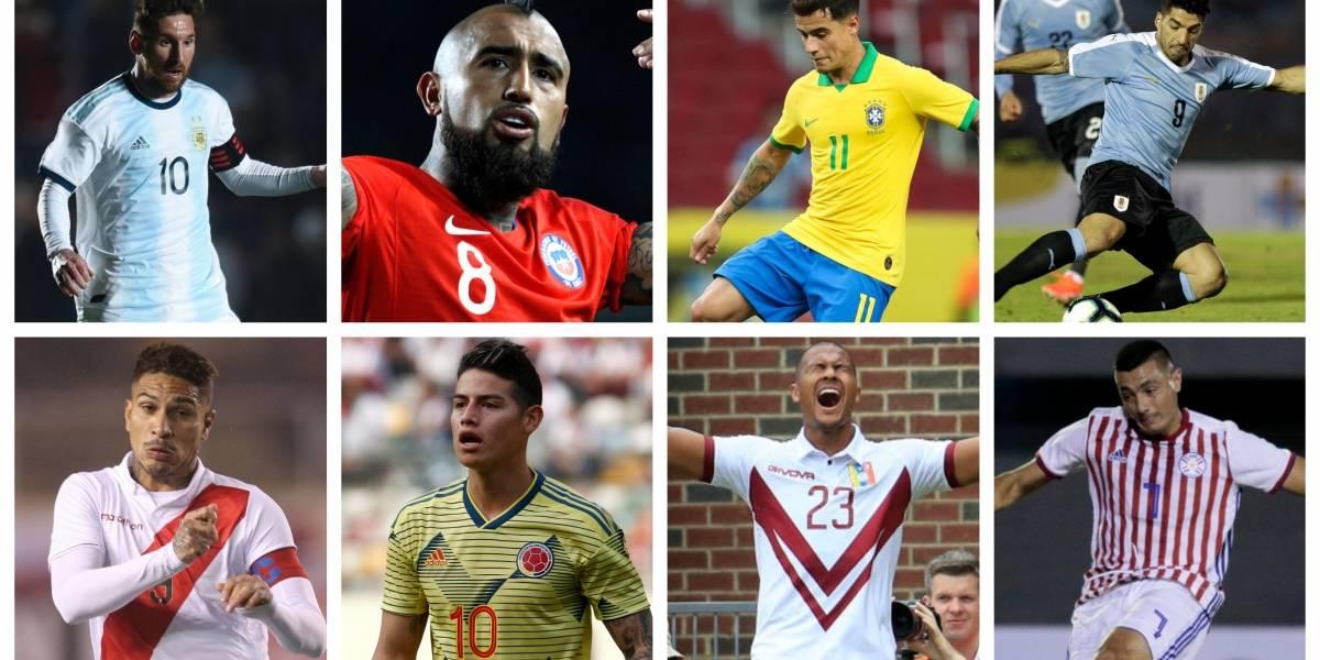Jugador por jugador: Todas las nóminas de la Copa América de Brasil 2019
