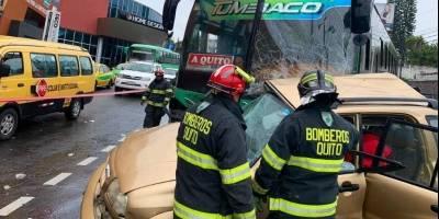 Accidente en Tumbaco
