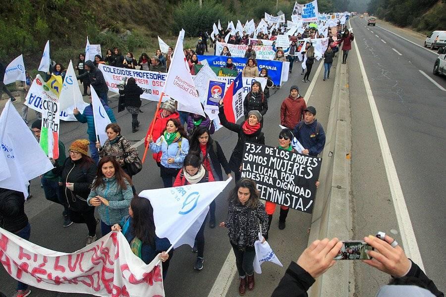 Marcha Profesores Valparaíso