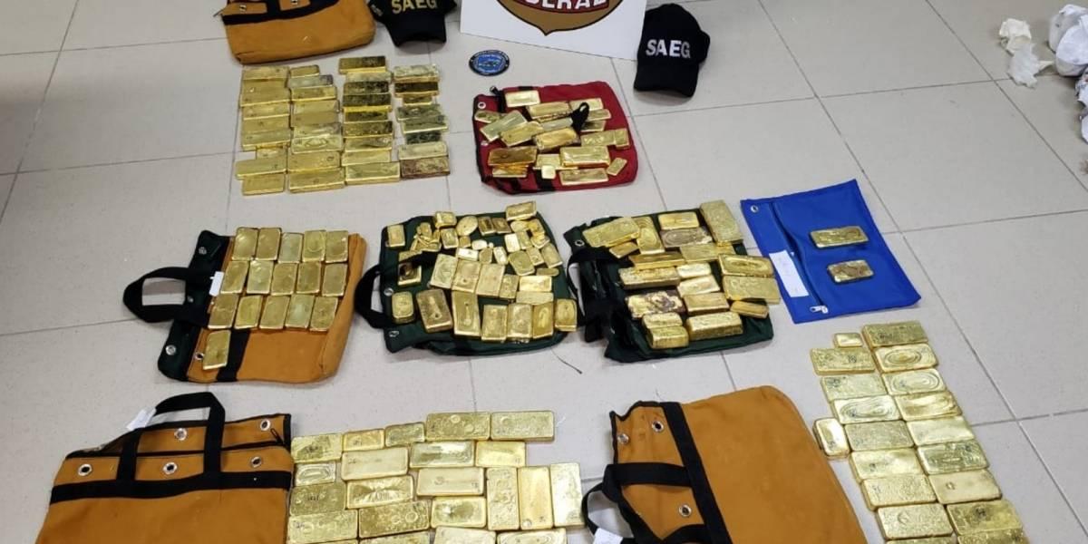 Avião é apreendido com R$ 18 milhões em barras de ouro