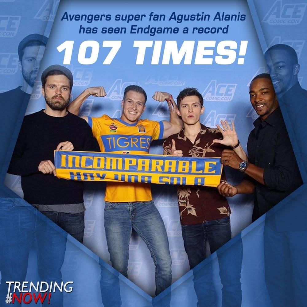 Mexicano gana récord Guinness por ver más de 100 veces Avengers: Endgame