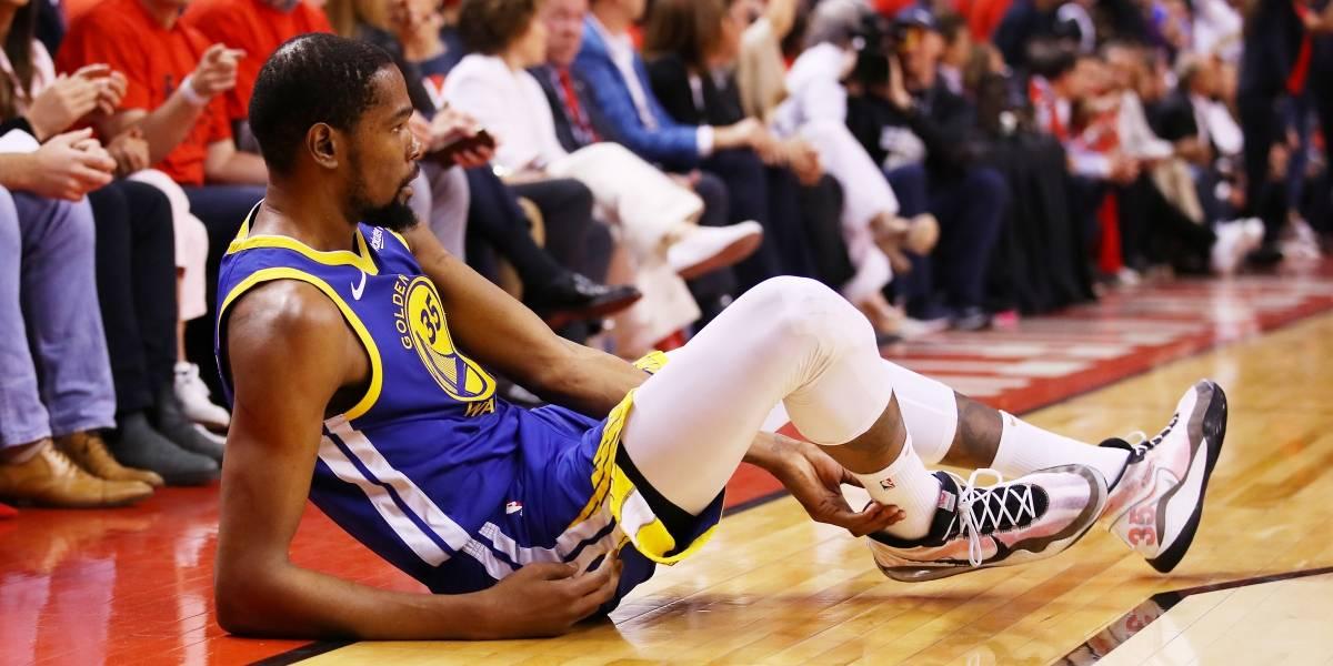 El momento de la grave lesión de Kevin Durant