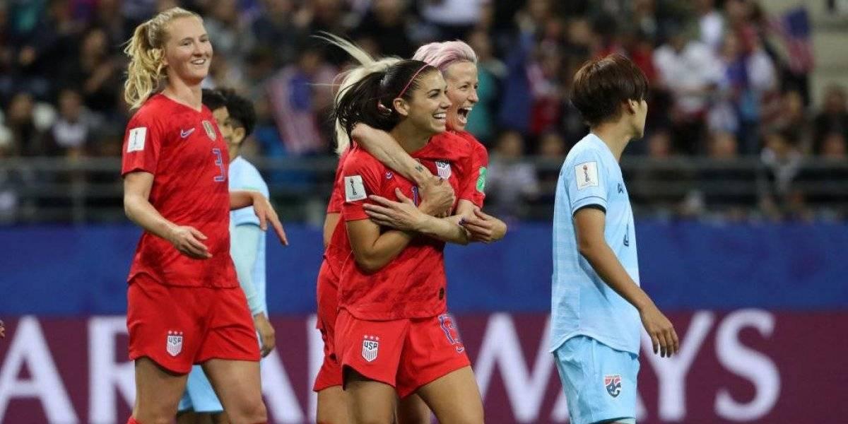 Estados Unidos destroza por 13-0 a Tailandia con récord de goles y le mete miedo a Chile en el Mundial Femenino