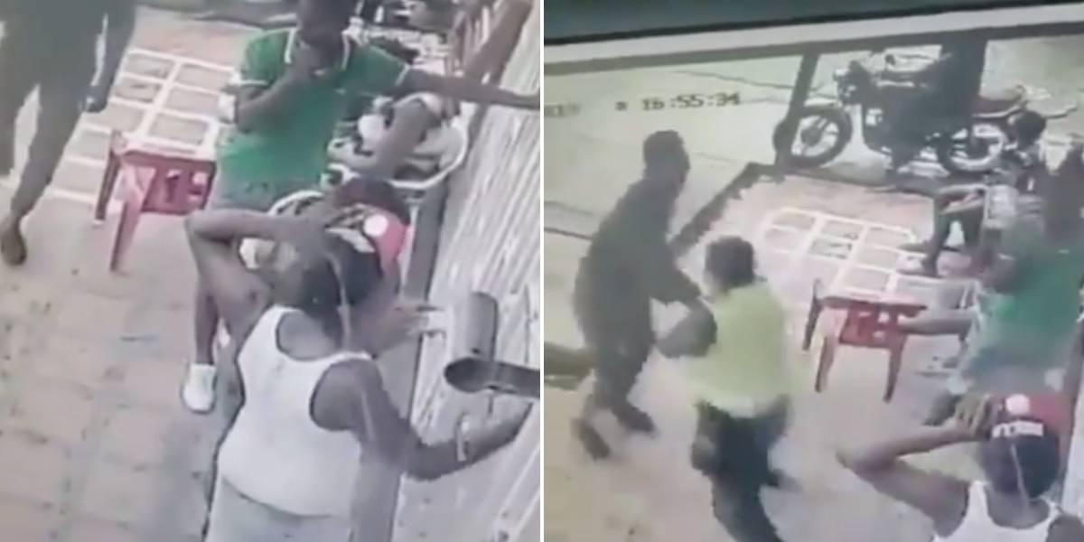 Video del momento en que delincuente desarma a Policía y posteriormente mata a comerciante