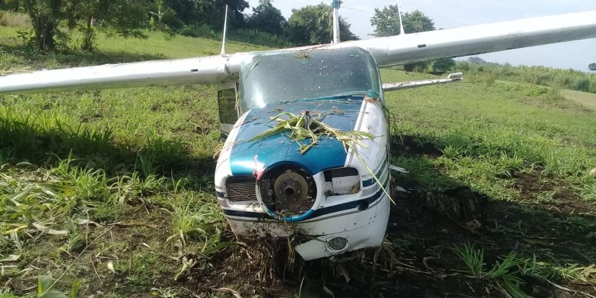 Localizan avioneta abandonada en Escuintla