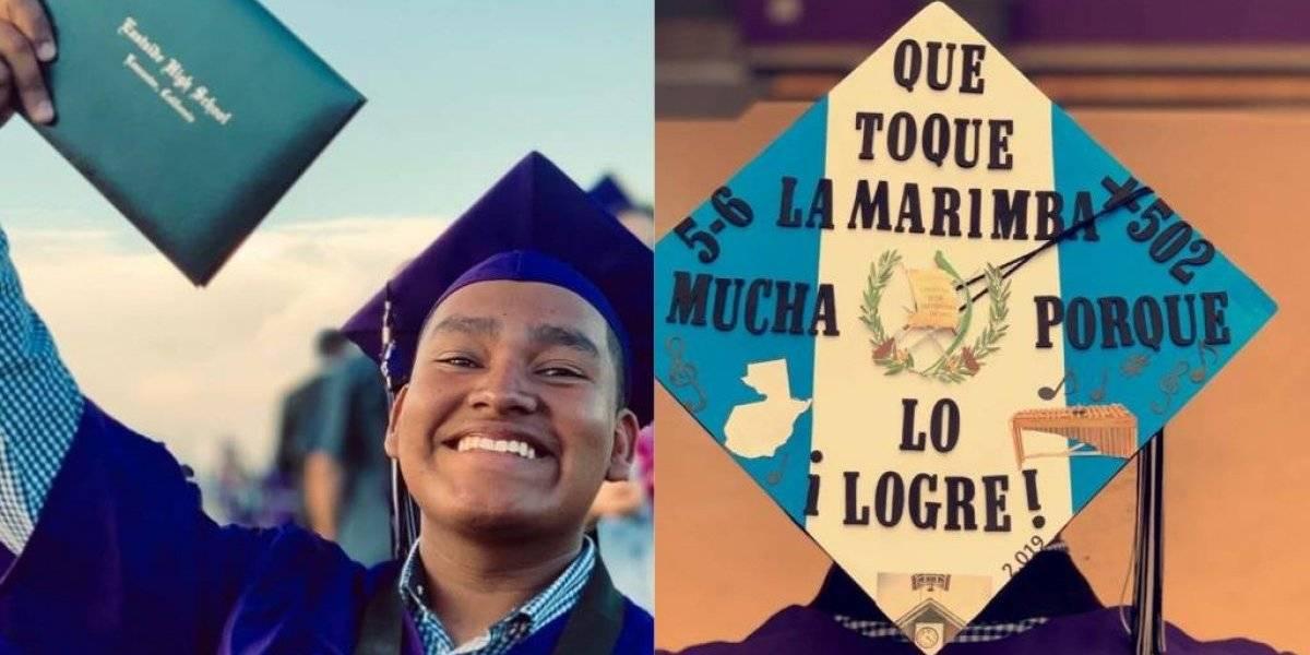 VIDEO. Guatemalteco explica el significado del creativo birrete que utilizó durante su graduación en EE.UU.