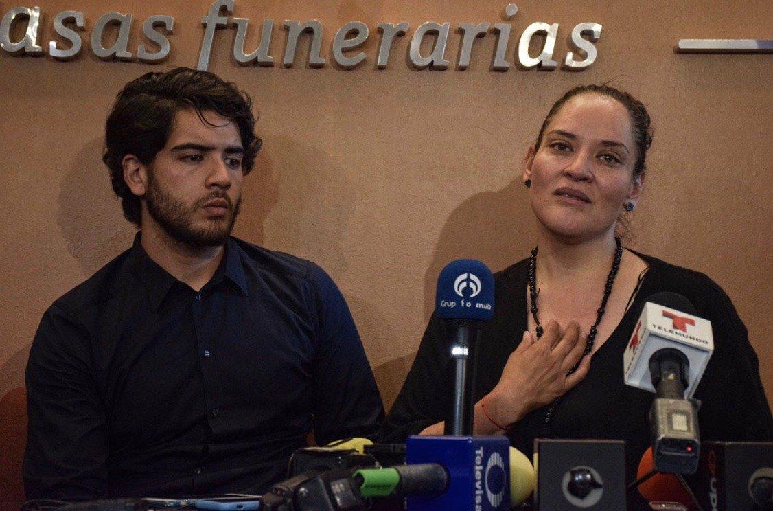 Norelia Hernández agradeció todas las muestras de apoyo Foto: Notimex